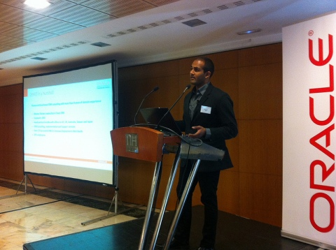 Mr. Rahul Reddy from CRMIT Participated In Oracle Partners' Event @ Madrid